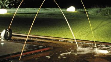 Jet d\'eau et cascade pour fontaine et bassin de jardin