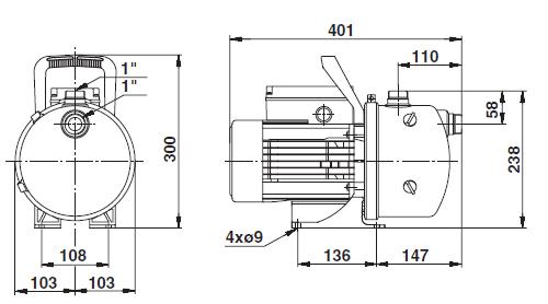 pompe  u00e9lectrique jet de surface jp 6 de grundfos