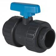 Vanne à boisseau PVC pression à coller FF Ø63