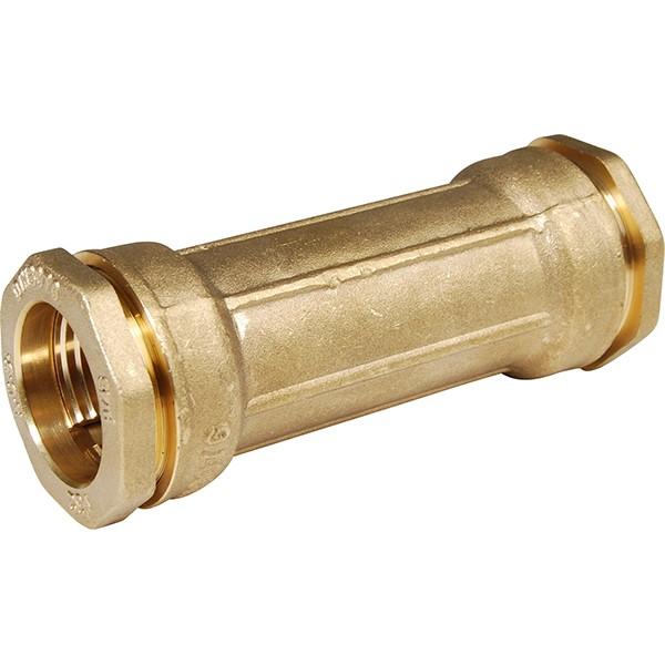 Manchon de réparation laiton pour tube PE Ø63