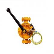 Pompe demi rotative Atex FAT1-S1 pour solvants vide fût + vanne 1/4T inox