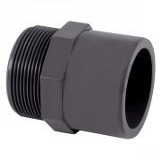 Embout fileté simple PVC pression mixte FM Ø63-2