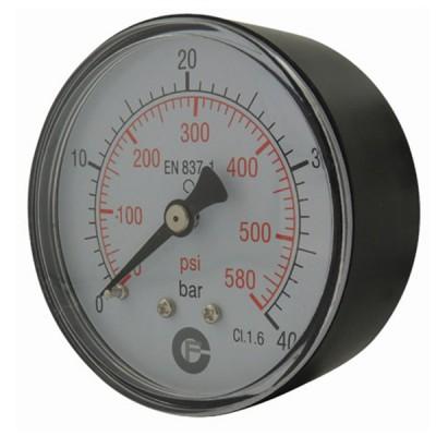 Manomètre sec 0-10 bars - Ø50 - Axial