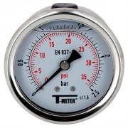 Manomètre à bain de glycérine 0-2,5 bars - Ø50 - Axial