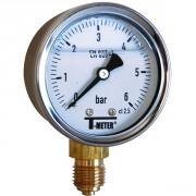 Manomètre à bain de glycérine 0-2,5 bars - Ø50 - Radial