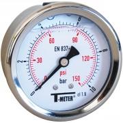 Manomètre à bain de glycérine 0-16 bars - Ø63 - Axial
