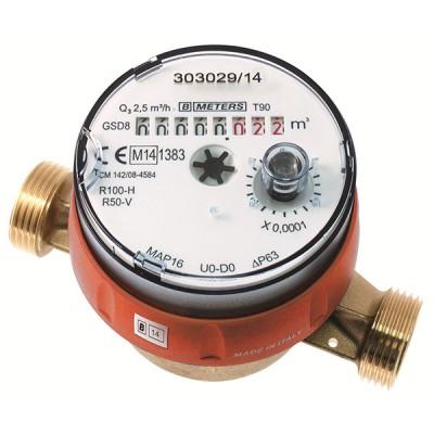 Le Compteur divisionnaire pré-équipé télérelevage Calibre 20 - Eau chaude - MID R100