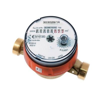 Le Compteur divisionnaire pré-équipé télérelevage Calibre 15 - Eau chaude - MID R160
