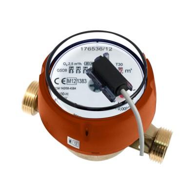 Le Compteur divisionnaire à émetteur d'impulsions Calibre 15 - Eau chaude - MID R160