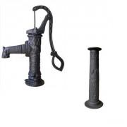 Pompe à main fonte décorée complète