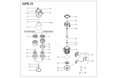 Pièces détachée Aspri 25 5 - Monophasé