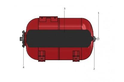 Pièces détachée Réservoir Zilmet 200L Horizontal - Brides inox